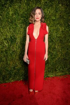 Rose Byrne in Delpozo. See what everyone wore to the 2015 Tony Awards.