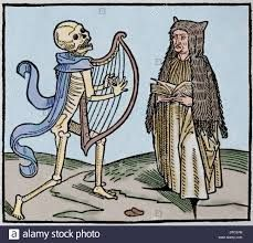 Image result for dance o f the dead 14th century woodcuts