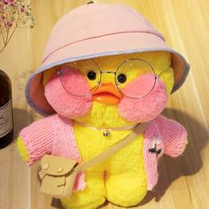 Cafe-Mimi Yellow Duck Plush Toy With Pink Cheek Stuffed Duck Toys Pink Cafe, Duck Wallpaper, Cute Ducklings, Pet Ducks, Duck Toy, Pink Cheeks, Pink Body, Cute Stuffed Animals, Disney Toys