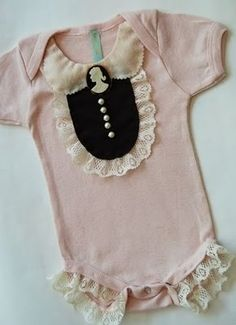 Cameo and lace baby onesie!