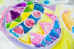Arty Crafty Kids | Easter | Glue Resist & Watercolour Easter Egg | A colourful and fun Easter themed art projects for kids!