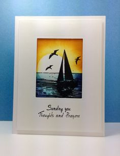 The Sea: Sweet 'n Sassy stamps, sponging, nautical, summer, by beesmom at splitcoast