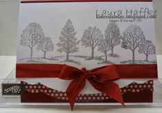 SILVER WINTER TREES - Lovely As A Tree, Silver Encore Ink, Cherry Cobbler seam binding, washi tape