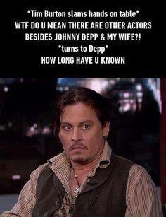 Johnny Depp and Tim Burton http://ibeebz.com