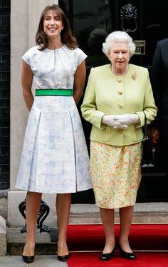 Samantha Cameron and Queen Elizabeth II