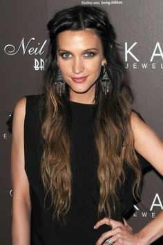 Black/light brown Ombre'. I like this, but I'd do a much more subtle ombre, like black to chocolate brown (my original hair color)