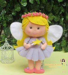 Feltro Fácil: Fadinha em Feltro com Molde 1; Fairy Felt