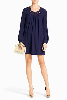Beres dress in midnight - comfortable and easy to dress up or down.