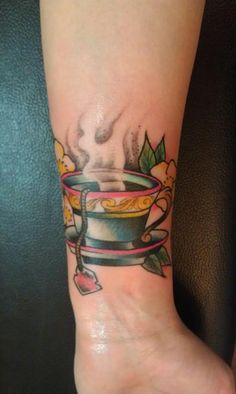 Teacup by Matt Owen at Utility Tattoos in Halifax, NS