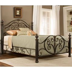 Grand Isle Iron Bed in Brushed Bronze by Hillsdale | Humble Abode