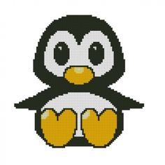 ALL STITCHES - BABY PENGUIN CROSS STITCH PATTERN maybe could knit?