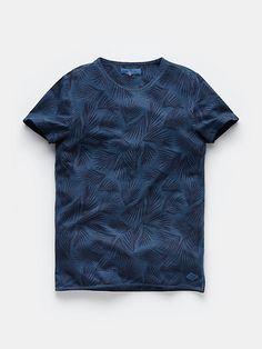 T-shirt with print darkblue