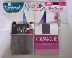 Lot of 5 NEW Vintage Assorted Queen Size, Peds, Underalls Pantyhose, Stockings #Tights #Pantyhose
