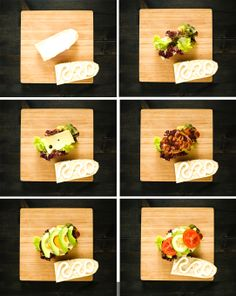 Doing your own Sandwich with cheese, ham, tomatoes & salad, egg and avocado :)  photo by Cornelia Kahr #food photography