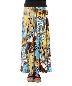 Love this Yellow Borooy Maxi Skirt on #zulily! #zulilyfinds