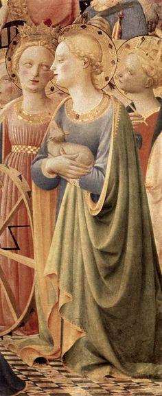 ANGELICO, Fra Coronation of the Virgin (detail) 1434-35 Tempera on panel Musée du Louvre, Paris