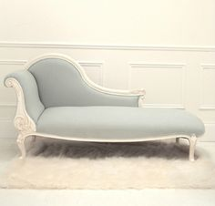 Antique design kids royal carved chaise lounge chair, American style linen toddler lounge chairs, Bed stool for children