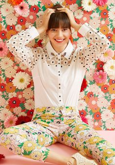 Bliss in Bloom Button-Up Top | ModCloth