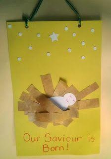 Sunday School--Easy Nativity Craft for Kids Preschool Christmas, Christmas Nativity, Christmas Activities, Christmas Crafts For Kids, Christmas Themes, Kids Christmas, Holiday Crafts, Jesus Crafts, Bible Crafts