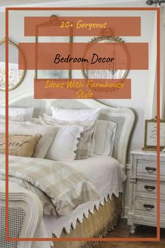 20+ Gorgeous Bedroom Decor Ideas With Farmhouse Style #bedroom #bedroomdecor #bedroomdecorideas