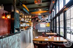 Dining room at Off The Hook, Raw Bar and Grill in Astoria, Queens