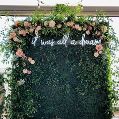 Flower Wall Wedding, Diy Wedding Backdrop, Floral Backdrop, Floral Wedding, Wedding Flowers, Bouquet Wedding, Wedding Nails, Ballroom Wedding, Wedding Stage