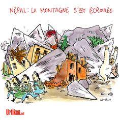 Séisme au Népal : le drame - Dessin du jour - Urtikan.net