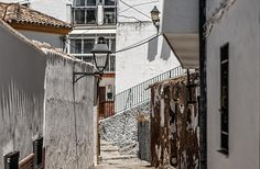 Picturesque tiny streets of Ronda, Andalusian part of Spain. Very typical white houses and narrow streets. Art Prints For Home, Home Art, Fine Art Prints, Framed Prints, Urban Photography, Fine Art Photography, Street Photography, Andalusia Spain, Thing 1