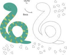 Molde de cobra para feltro e artesanato em EVA - Ver e Fazer