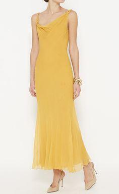 John Galliano Yellow Dress   VAUNTE