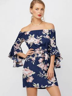 SHARE & Get it FREE | Off The Shoulder Mini Floral DressFor Fashion Lovers only:80,000+ Items • New Arrivals Daily • Affordable Casual to Chic for Every Occasion Join Sammydress: Get YOUR $50 NOW!