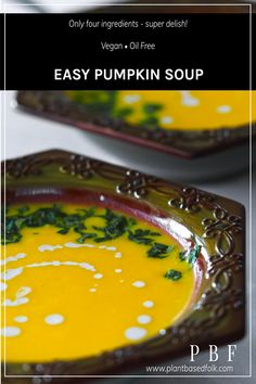 Easy vegan pumpkin soup that only requires four ingredients and is made in under 30 minutes. This easy vegan pumpkin soup is big on flavour. Vegan pumpkin soup recipe ingredients: •Potatoes •Pumpkin •Veggie stock •Coconut Cream Boil potatoes & pumpkin in veggie stock. Blend and add coconut cream. So easy! Details in link Everyone will love this easy vegan pumpkin soup recipe. #easyveganpumpkinsoup #pumpkinsoup #veganpumpkinsoup #veganpumpkinsouprecipe #easyveganpumpkinsouprecipe…