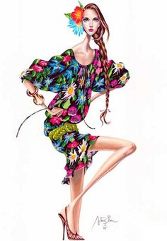 elena arturo, fashion illustration, illustration,