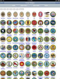 boyscout badge chart - Google Search