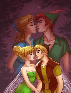 "daekazu: ""I love you Peter… I had this idea after first Tinker Bell's movie. Sometimes love… isn't simple. """