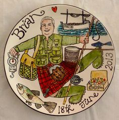 The perfect dish for your favourite fish! Find out more about Karen's latest commission over at her blog, A Funky Scottish Life...  http://afunkyscottishlife.blogspot.co.uk/2013/06/hooked-on-feeling.html
