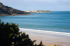 Looking towards St Ives from Carbis Bay Beach, in the UK. Part of the view on my train ride to work everyday, I am soooo lucky :-)