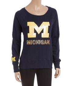 Michigan Wolverines Scoop Neck Pullover - Women #zulily #zulilyfinds