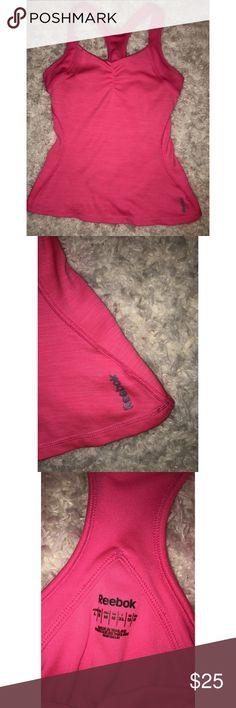 Pink Reebok Workout Shirt / Top - Medium Size Medium Tops