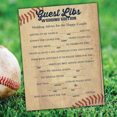 Hey, I found this really awesome Etsy listing at https://www.etsy.com/listing/224985637/baseball-wedding-madlibs-printable