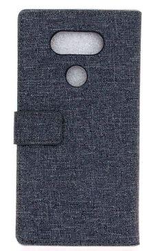 LG G5 - Linen-Texture Flip Wallet Case in Assorted Colors