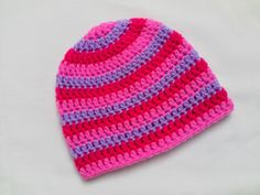 Colourful Crochet Baby Hat, Beanie by Tatjana474 at Folksy.com