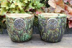 Blumentöpfe - 2 Keramik Übertöpfe, Handarbeit / Unikate - ein Designerstück von Atelier-MJ-Arts bei DaWanda