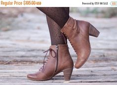 Sale 20% Off Brown Leather Boots Ankle Boots Leather by BangiShop