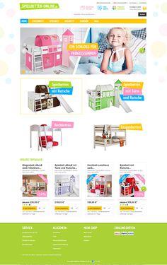 E-Commerce Webdesign made by 4market | www.4market.de/ | Onlineshop für Kinderbetten