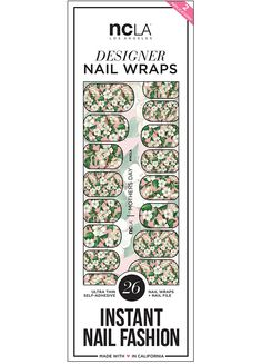 Mother's Day nail wraps blend a gorgeous plethora of florals that look stunning for a simple Spring manicure! | NCLA 2016