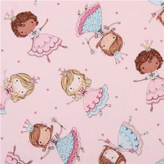 pale pink heart princes fabric with glitter Timeless Treasures 2