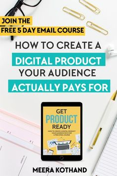 Ready to create your first or next digital product? But overwhelmed and confused? In this FREE email course you will get ideas on how to make a digital product to sell that your audience will pay for Email Marketing Strategy, Affiliate Marketing, Online Marketing, Content Marketing, Business Marketing, Digital Marketing, Make Money Blogging, Way To Make Money, Blogging Ideas