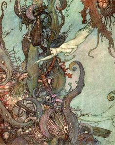 The Little Mermaid - by Hans Christian Andersen - Illustration by Edmund Dulac