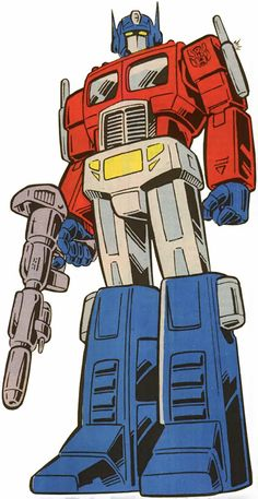 Optimus Prime of the Transformers in the G1 Marvel Comics. From http://www.writeups.org/optimus-prime-transformers-g1-profile/
